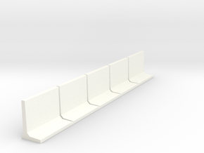 HO Retaining Wall 1500mm 5pc in White Strong & Flexible Polished