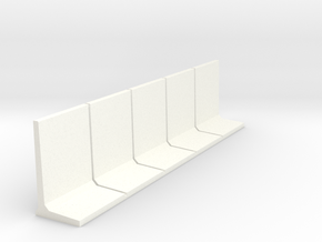 HO Retaining Wall 2500mm 5pc in White Strong & Flexible Polished