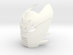 Kanohi Blocko-1 (Bionicle) v2 in White Strong & Flexible Polished