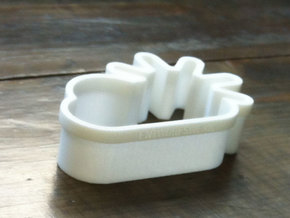 Sunny Clouds cookie cutters in White Strong & Flexible Polished