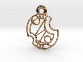 Gallifrey Pendant in Polished Brass