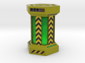 Game Piece, Power Grid, Uranium Canister Type 2 in Full Color Sandstone