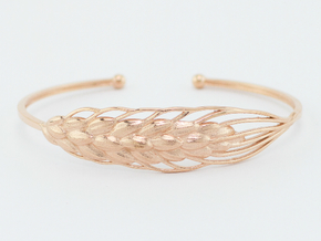SALE! Wheat 17cm Bracelet (medium)  in 14k Rose Gold Plated