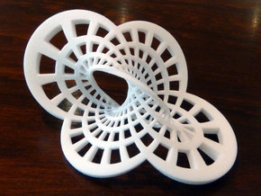 Round Möbius Strip (Small) in White Strong & Flexible