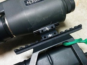 Weaver Rail to Rail Adapter in Black Strong & Flexible