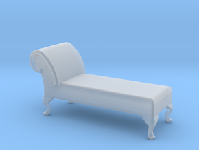 1:48 Queen Anne Chaise (No Back) in Frosted Ultra Detail
