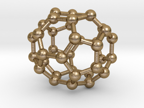 0043 Fullerene c36-15 d6h in Polished Gold Steel