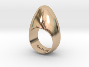 Egg Ring Size 10 in 14k Rose Gold Plated
