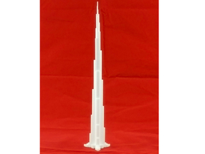 3D Printed Burj Khalifa Model in White Strong & Flexible
