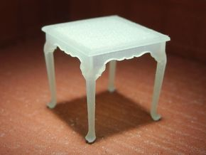 1:48 Queen Anne Table, Square in Frosted Ultra Detail