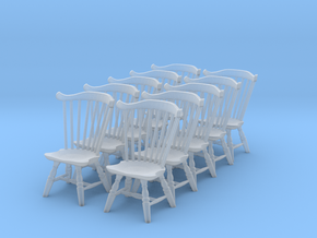 1:48 Fan Back Windsor Chair (Set of 10) in Frosted Ultra Detail
