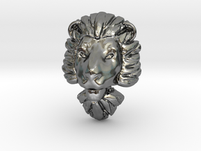 Pendant for ring2(lion) in Polished Silver