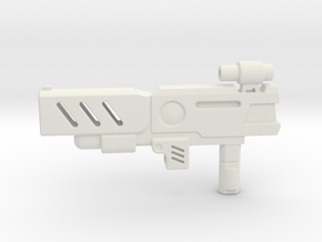 Transformers CHUG Machine Pistol in White Strong & Flexible