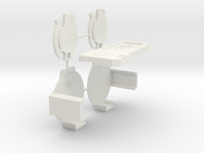 Broadcaster Speakers and Chestplate in White Strong & Flexible