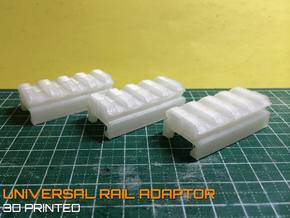 Nerf to Picatinny 20mm Rail Adapter  in White Strong & Flexible