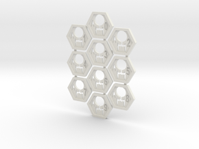 Feddy Hex Tiles in White Strong & Flexible