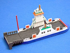 kleine Autofähre / Ferry - 1:220 (Z scale) in White Strong & Flexible