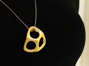 Trian Pendant (#1505) in Polished Gold Steel