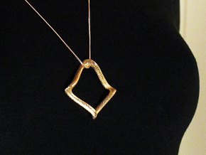 Siyah Gozler Pendant (#1495) in Polished Gold Steel