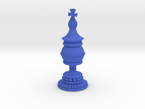 King Chess Piece in Blue Strong & Flexible Polished