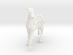 2014 Year of the Horse- Nylon (Small) in White Strong & Flexible Polished