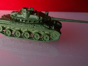 AMX-30-barcaza+torre+cañón in Frosted Ultra Detail