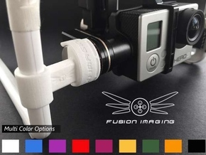GoPro Zenmuse H3-3D/H4-3D Gimbal Transport Lock V2 in White Strong & Flexible Polished