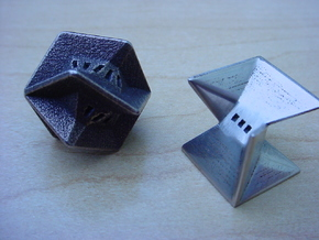 3 sided die. perfect fair balanced. 17mm in Stainless Steel
