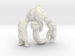Handongue Shapeways in White Strong & Flexible
