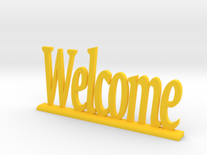 "Letters 'Welcome' 7.5cm / 3"" in Yellow Strong & Flexible Polished"