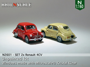 SET 2x Renault 4CV (N 1:160) in Frosted Ultra Detail