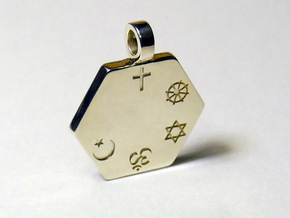 Statement for Peace: Christian pendant in Polished Silver