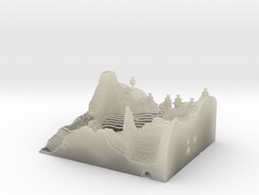 Minecraft 1.8 Two Hills season 1 (1 mm)  in Transparent Acrylic