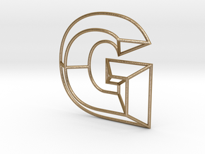G Typolygon. in Polished Gold Steel