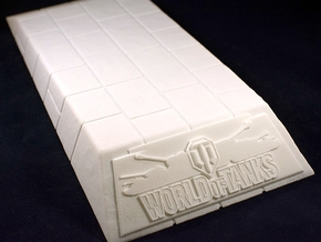 1:35 World of Tanks stand for miniatures  in White Strong & Flexible