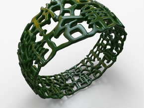 PAN Bracelet D64 RE115s1A20m25M45FR039-plastic in Green Strong & Flexible Polished