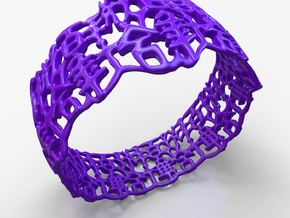 PAN Bracelet D64 RE115s1A10m25M45FR007-plastic in Purple Strong & Flexible Polished