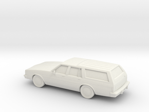 1/87 1980-85 Oldsmobile Delta 88 Station Wagon in White Strong & Flexible