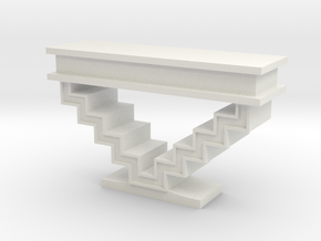 1:48 Zig Zag Console Table in White Strong & Flexible