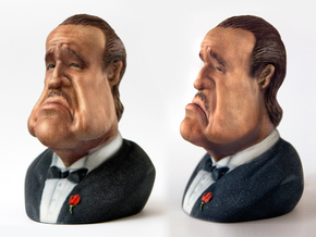 Marlon Brando Caricature Bust in Full Color Sandstone