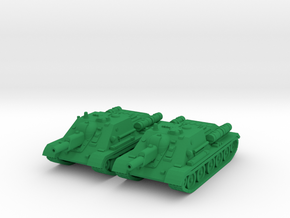 1/100 SU-122 SPG (2) in Green Strong & Flexible Polished