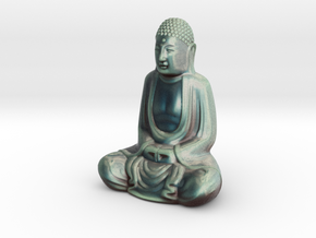 Textured Buddha: stormy sky. in Full Color Sandstone