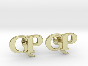 Monogram Cufflinks GP in 18k Gold Plated