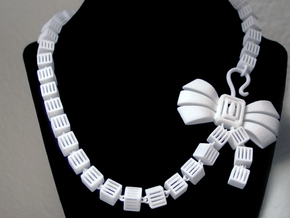 Caged Necklace in White Strong & Flexible