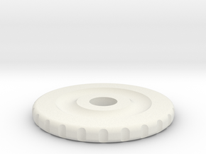 Rotary Encoder Wheel Old in White Strong & Flexible