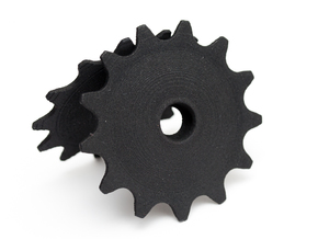 Pulley 13t for RD, hollow, flange in Black Strong & Flexible