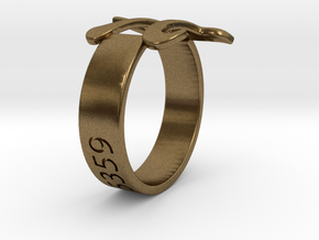 PI Ring Size6 in Raw Bronze