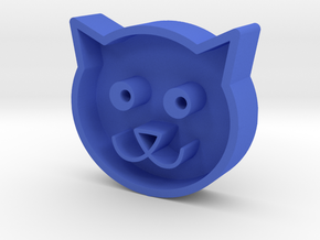 Cat head in Blue Strong & Flexible Polished