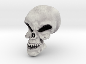 Little Scary Skull in Full Color Sandstone