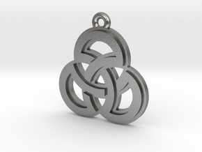 """Sacred Symmetry"" Pendant, Cast Metal in Raw Silver"